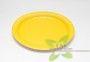 тарелка круглая  цветная желтая
